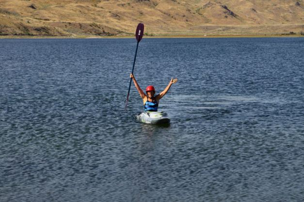 I just completed a successful roll in the kayak!