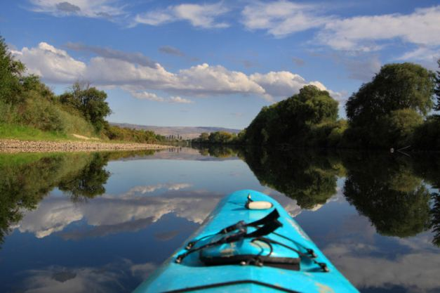 Kayak on the Okanogan